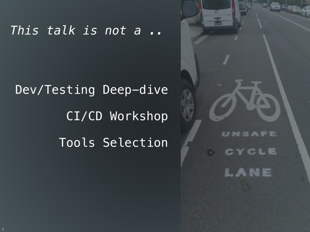 Dev/Testing Deep-dive CI/CD Workshop Tools Sele...