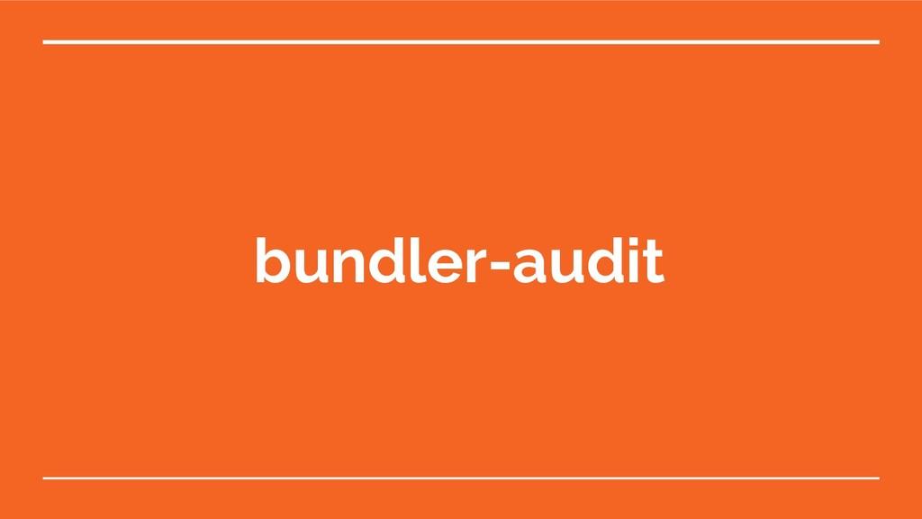 bundler-audit