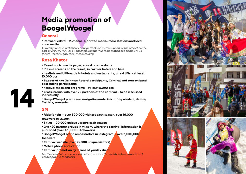 14 Media promotion of BoogelWoogel General • Pa...