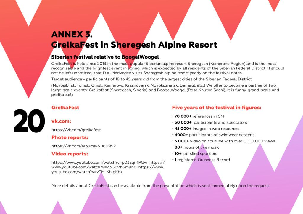 20 ANNEX 3. GrelkaFest in Sheregesh Alpine Reso...