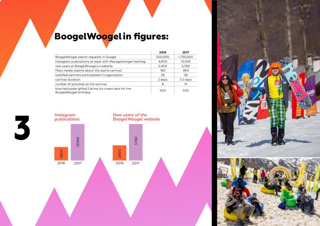 3 BoogelWoogel in figures: Instagram publicatio...