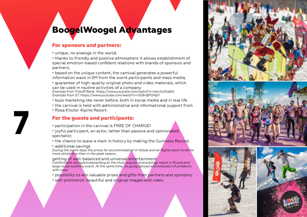 7 BoogelWoogel Advantages For sponsors and part...