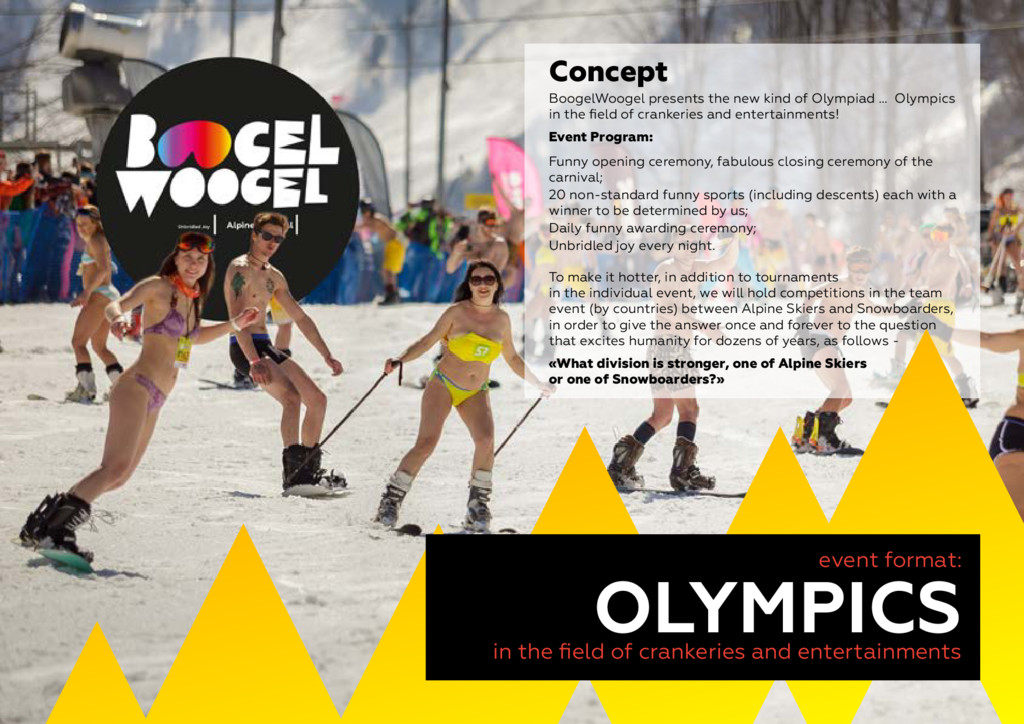 8 event format: OLYMPICS in the field of cranke...