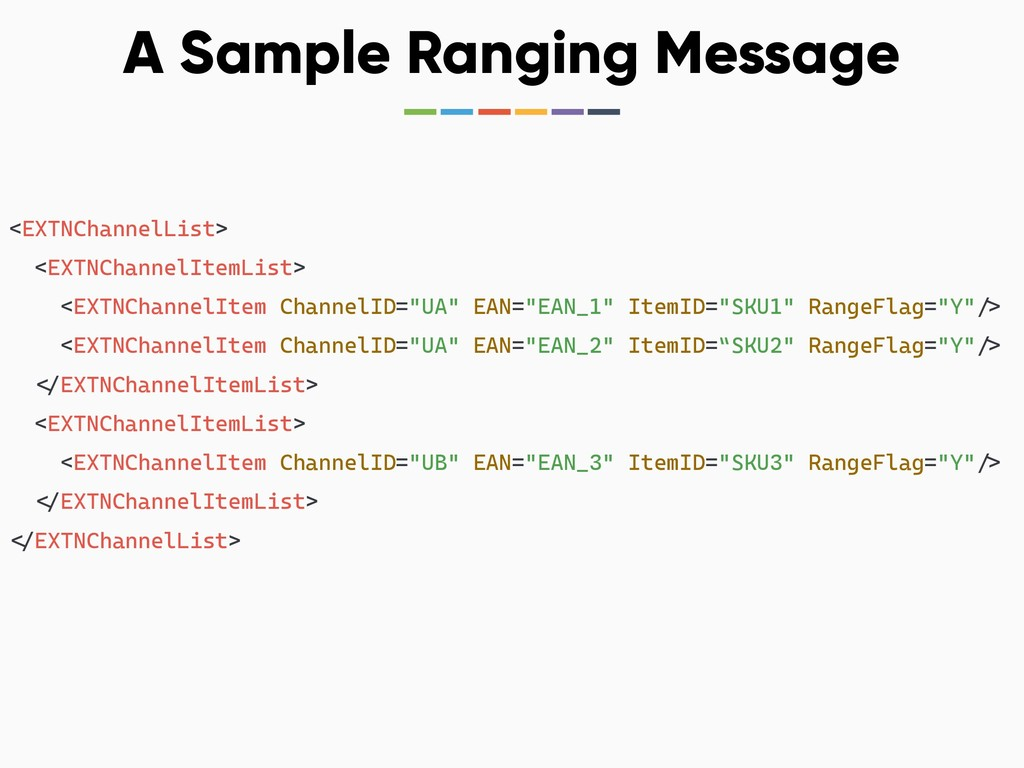 A Sample Ranging Message <EXTNChannelList> <EXT...