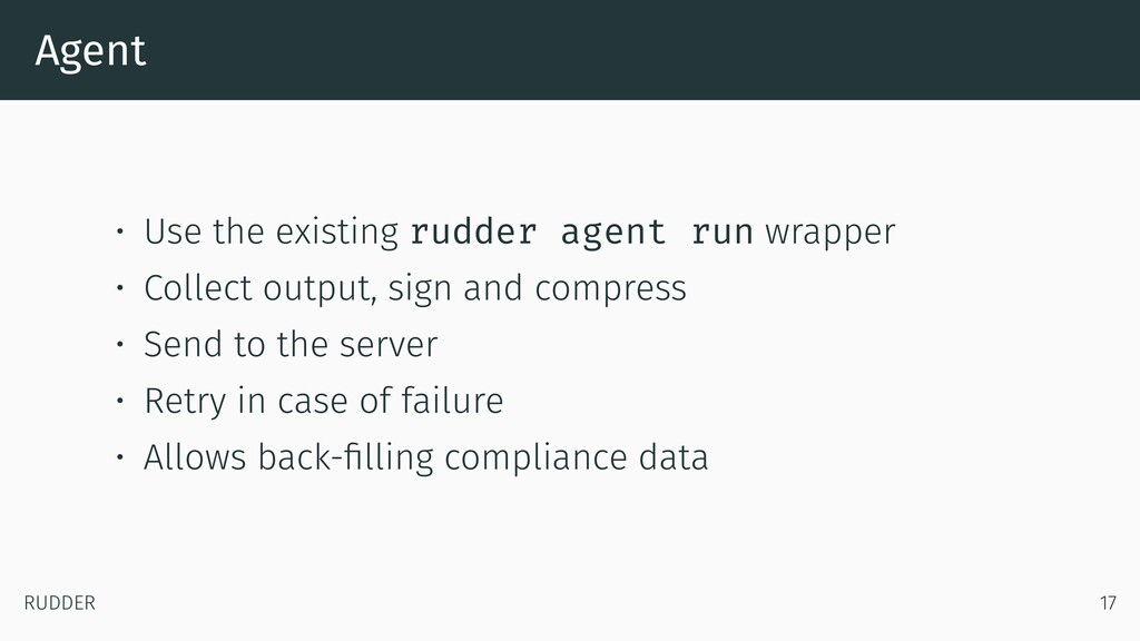 Agent • Use the existing rudder agent run wrapp...