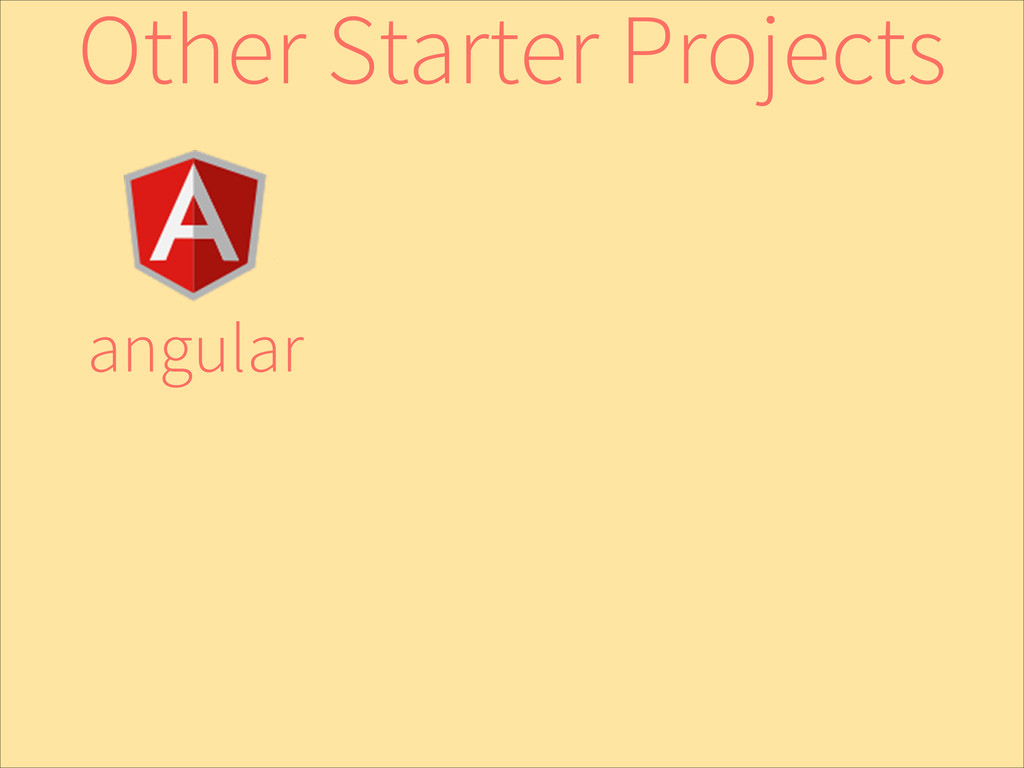 angular Other Starter Projects