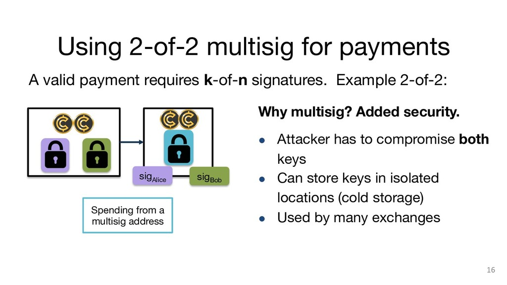 Using 2-of-2 multisig for payments 16 A valid ...