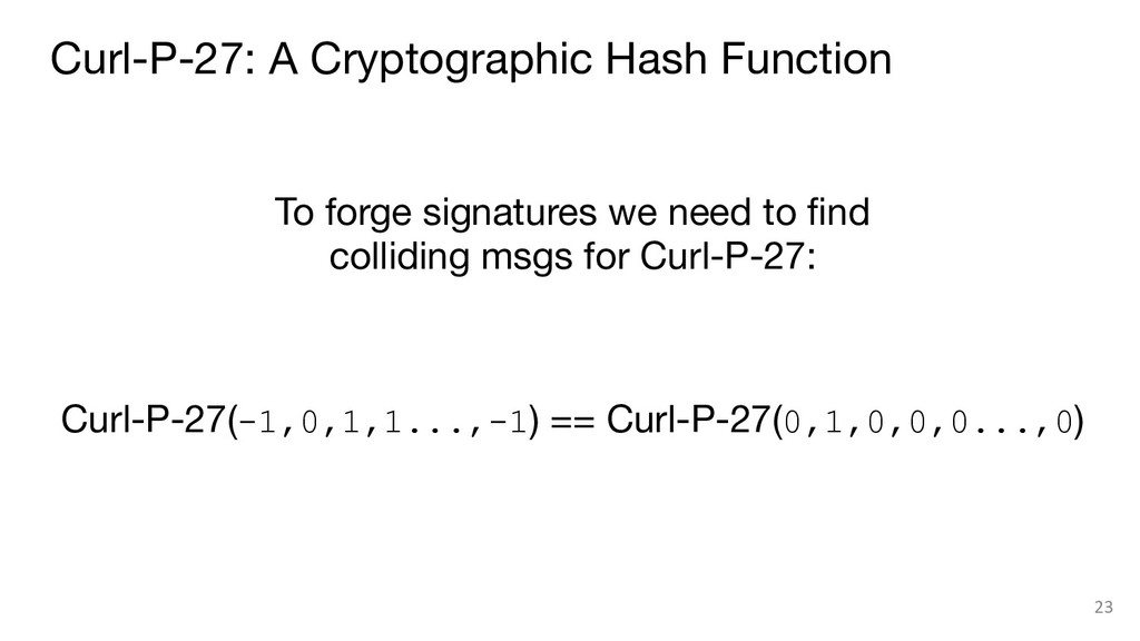 To forge signatures we need to find colliding m...
