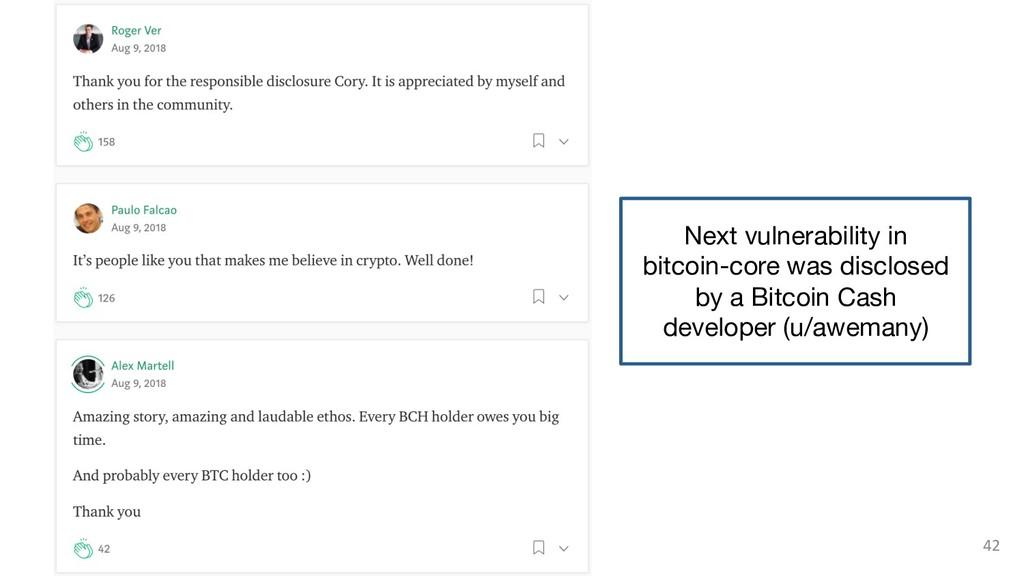 42 Next vulnerability in  bitcoin-core was dis...