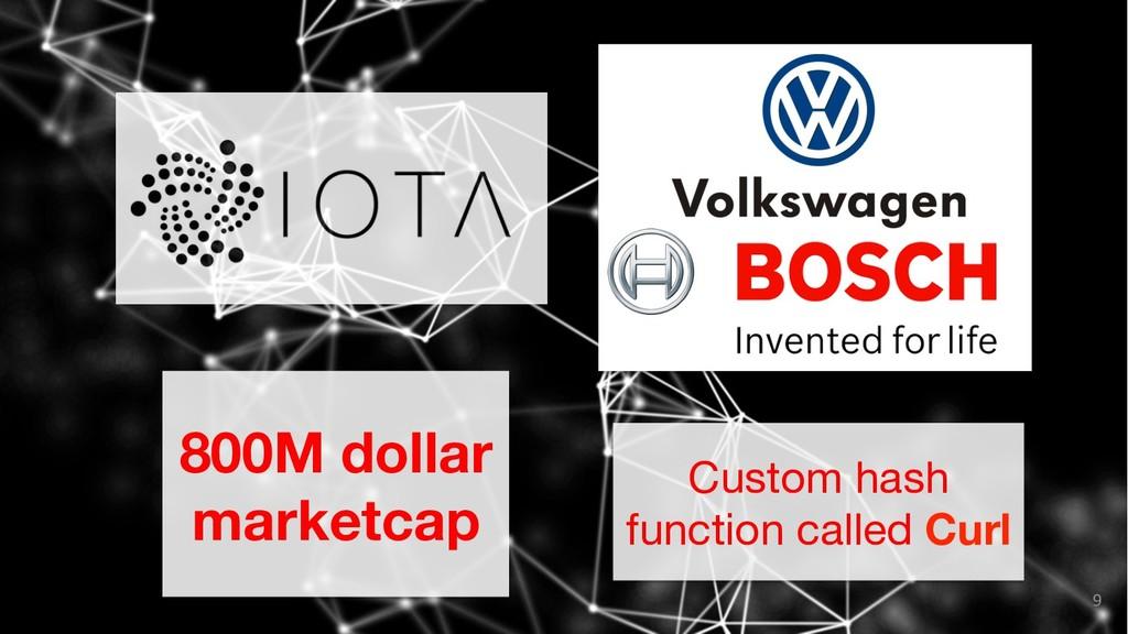 9 800M dollar marketcap Custom hash function c...