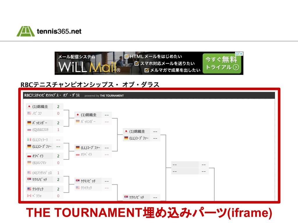 THE TOURNAMENT埋め込みパーツ(iframe)