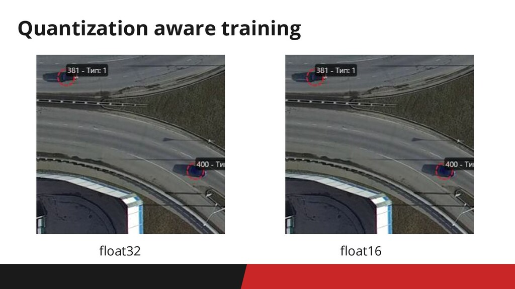 float32 float16 Quantization aware training