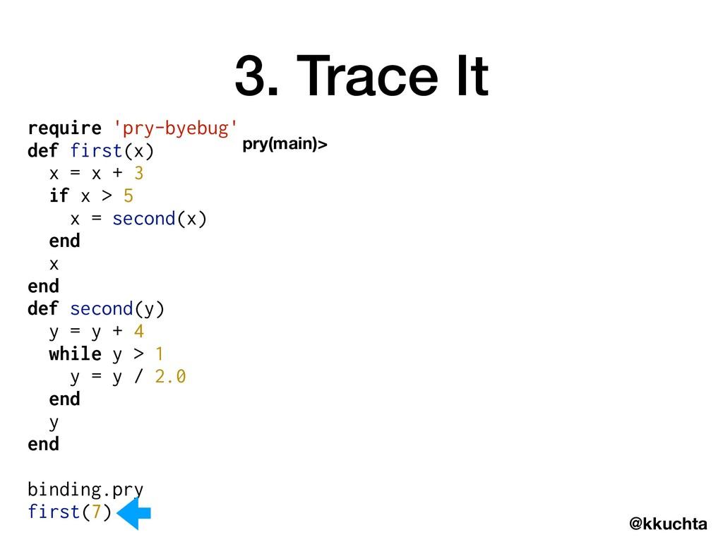 @kkuchta require 'pry-byebug' def first(x) x = ...