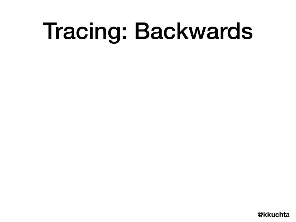 @kkuchta Tracing: Backwards