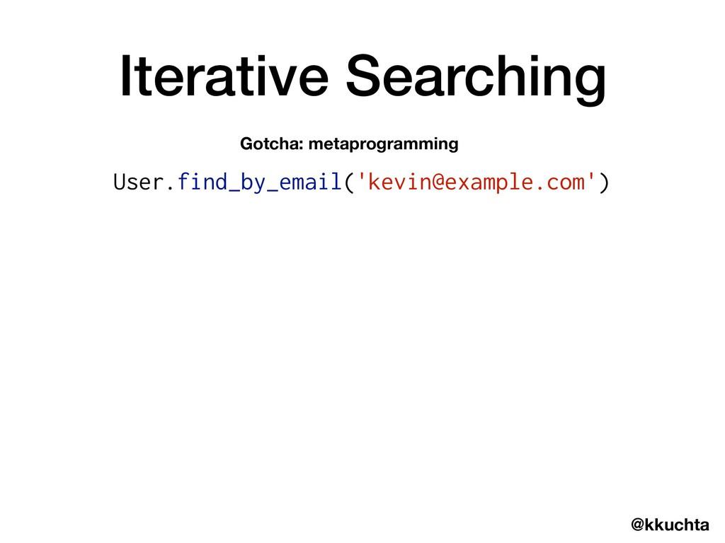 @kkuchta Iterative Searching Gotcha: metaprogra...