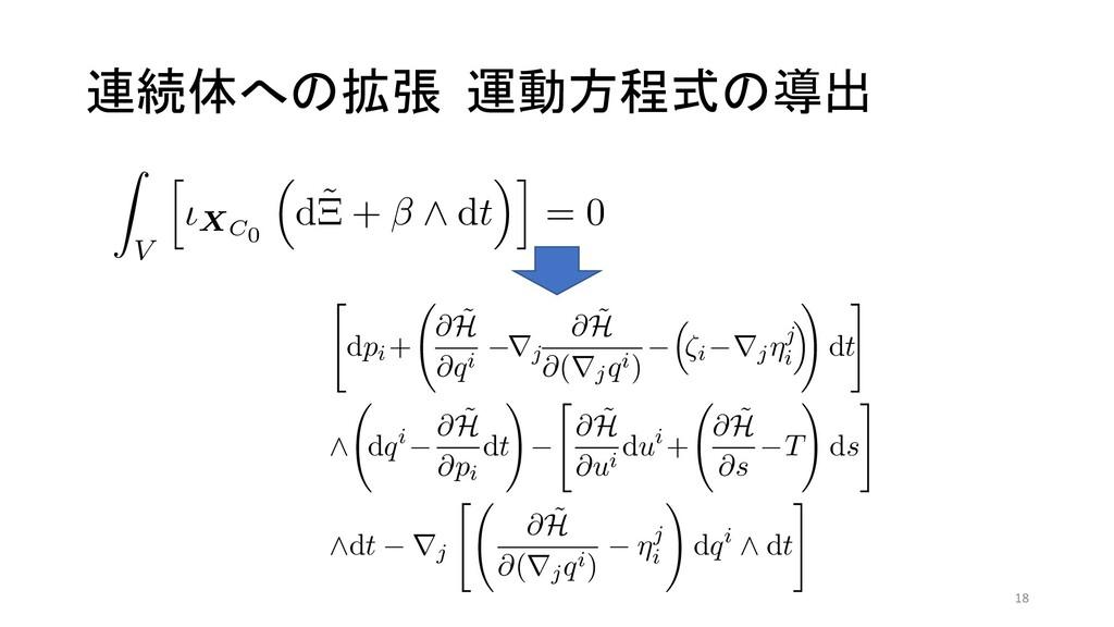 連続体への拡張 運動方程式の導出 s, t, T) ্ͷۂઢ C0 ɼ͕ࣔͤΔɽ 0 (14...