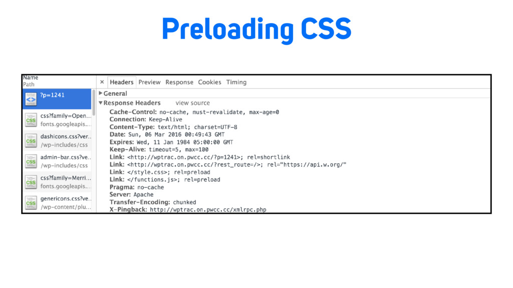 Preloading CSS