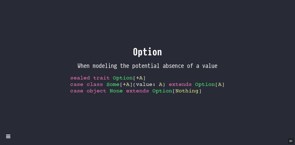 Option When modeling the potential absence of a...