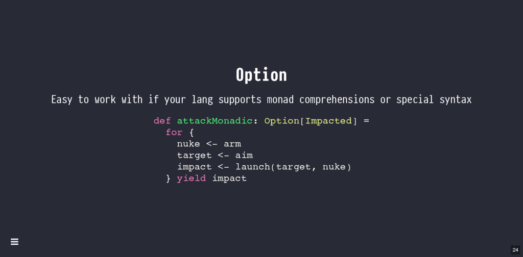 Option Easy to work with if your lang supports ...