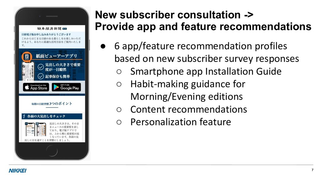 New subscriber consultation -> Provide app and ...