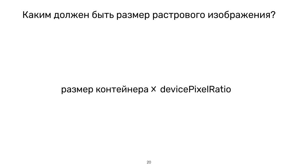 pазмер контейнера devicePixelRatio 20 Каким дол...