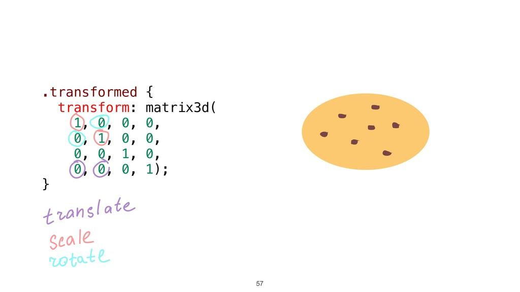 57 .transformed { transform: matrix3d( 1, 0, 0,...