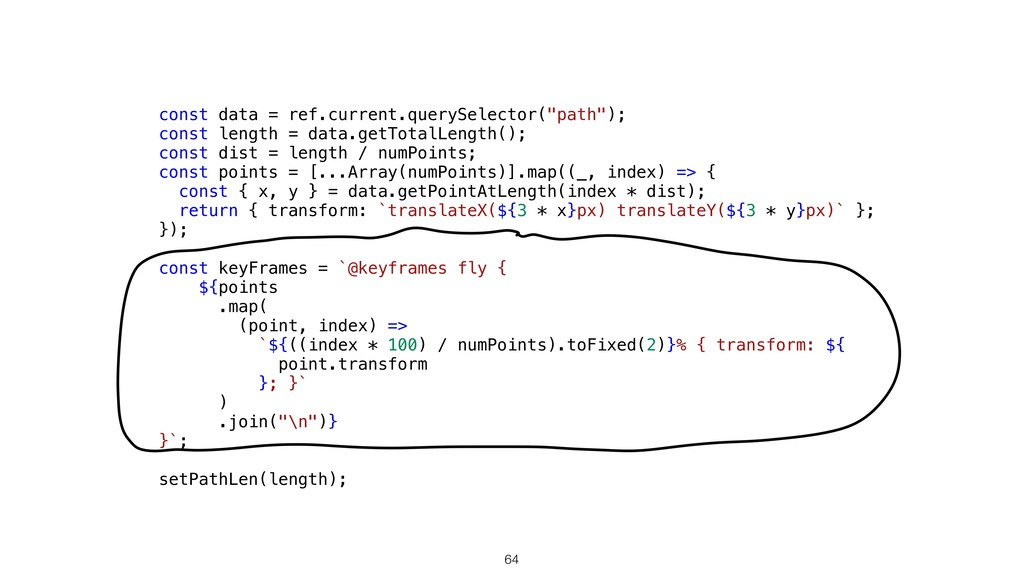 "64 const data = ref.current.querySelector(""path..."