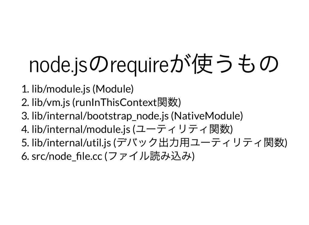 node.js のrequire が使うもの 1. lib/module.js (Module...