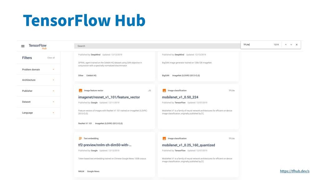 TensorFlow Hub https://tfhub.dev/s