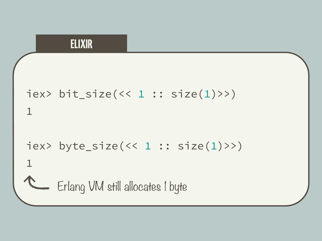iex> bit_size(<< 1 :: size(1)>>) 1 iex> byte_si...