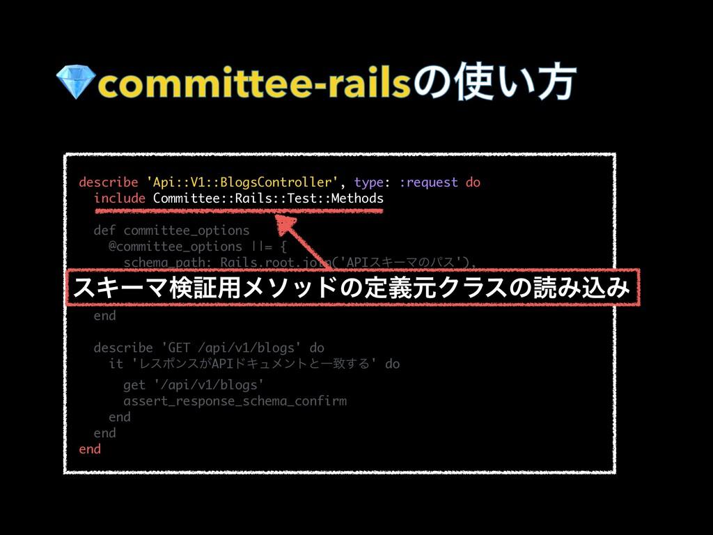 committee-railsͷ͍ํ   describe 'Api::V1::Blog...