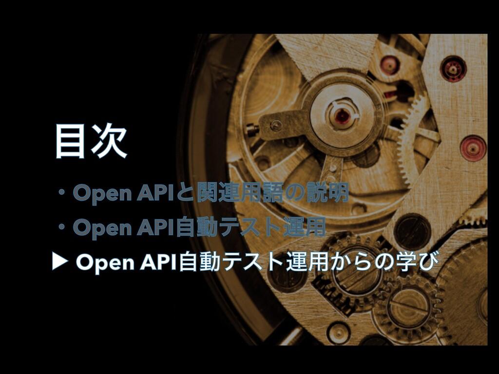  ɾOpen APIͱؔ࿈༻ޠͷઆ໌ ɾOpen APIࣗಈςετӡ༻ ▶︎ Open A...