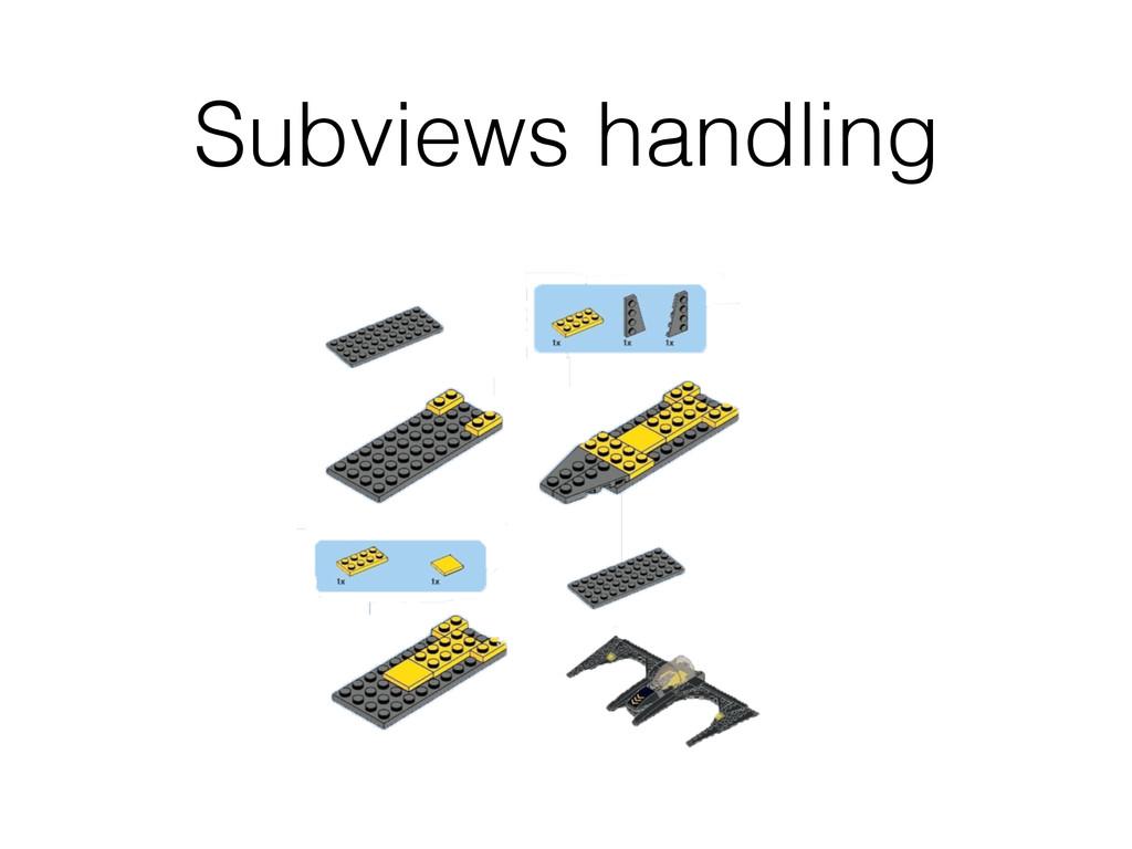 Subviews handling