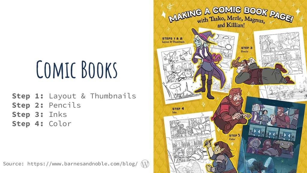 Comic Books Step 1: Layout & Thumbnails Step 2:...