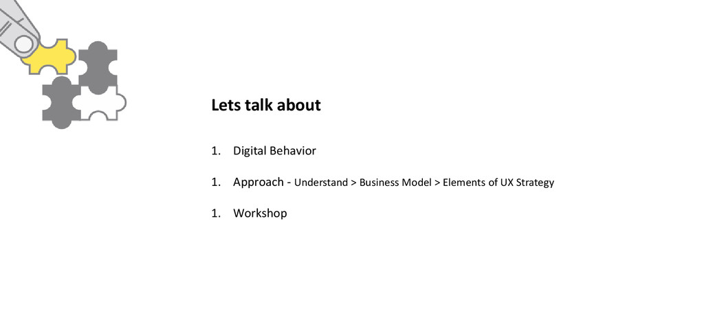 1. Digital Behavior 1. Approach - Understand > ...
