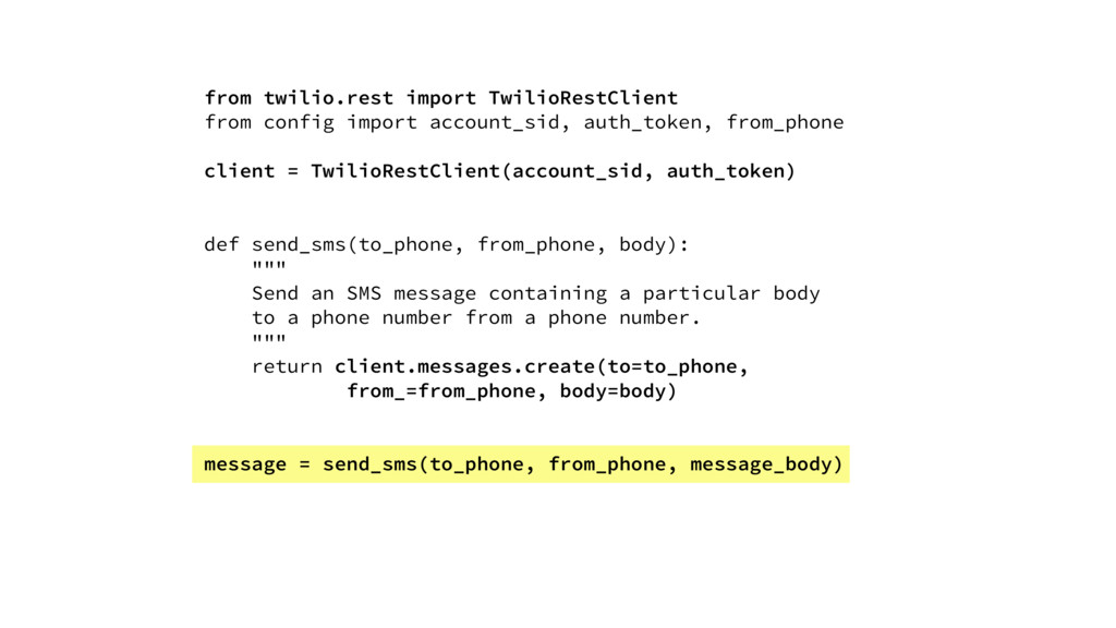 from twilio.rest import TwilioRestClient from c...