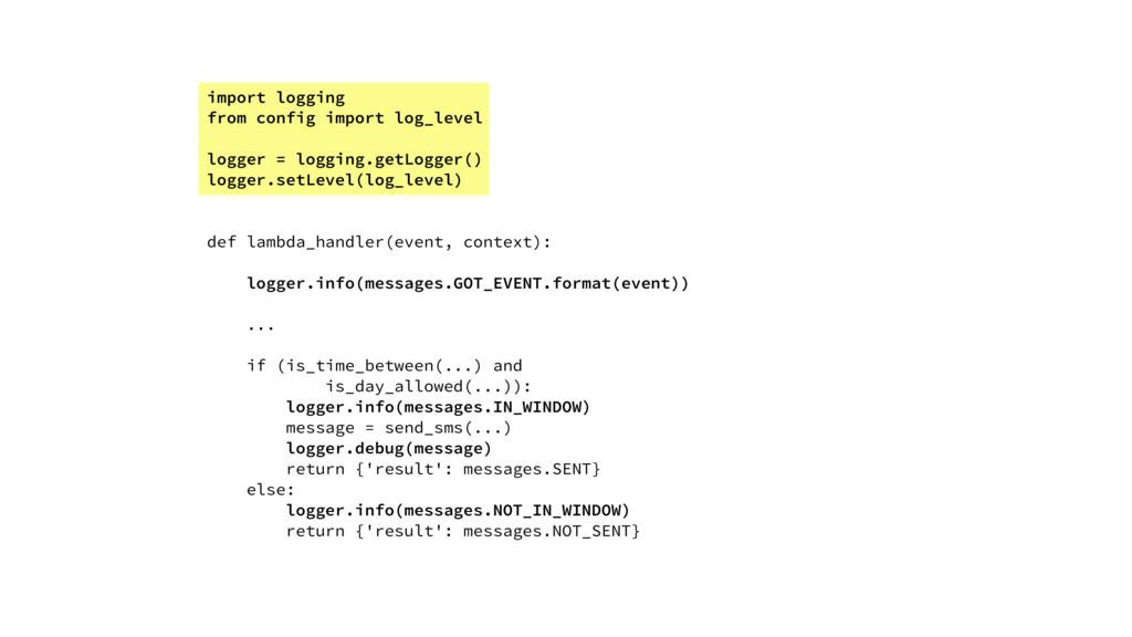 import logging from config import log_level log...