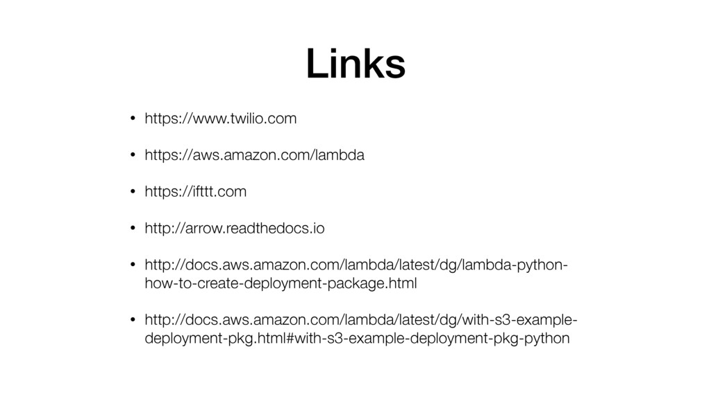 Links • https://www.twilio.com • https://aws.am...