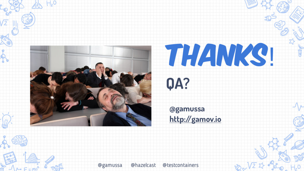 @gamussa @hazelcast @testcontainers Thanks! QA?...