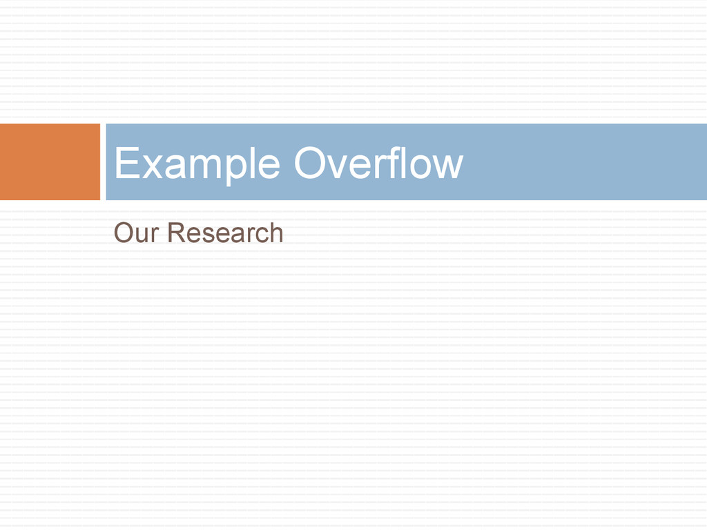 Our Research Example Overflow