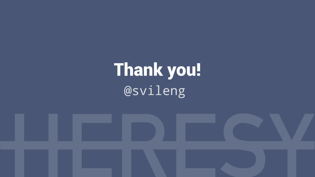Thank you! @svileng
