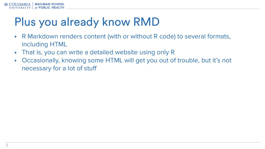 5 • R Markdown renders content (with or without...