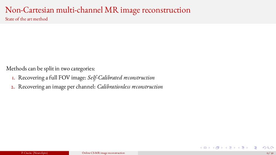 Non-Cartesian multi-channel MR image reconstruc...