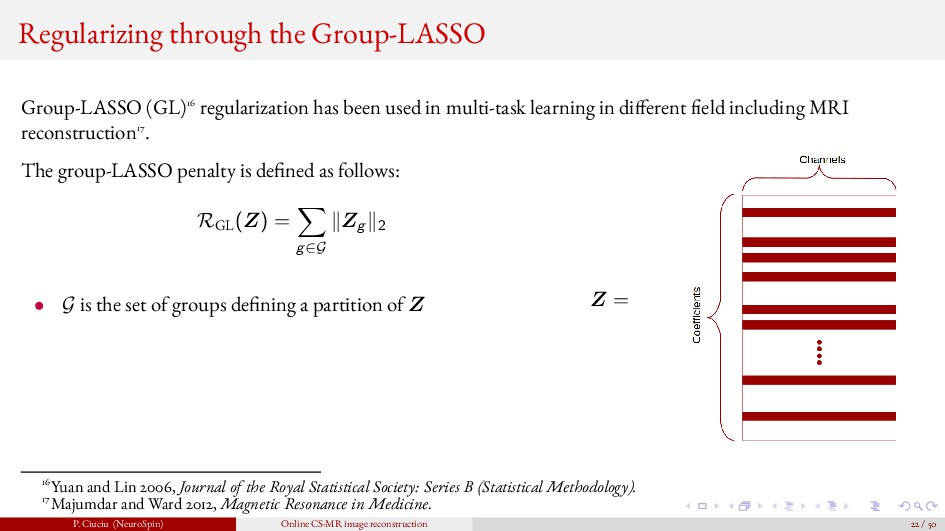 Regularizing through the Group-LASSO Group-LASS...