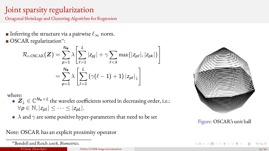 Joint sparsity regularization Octagonal Shrinka...