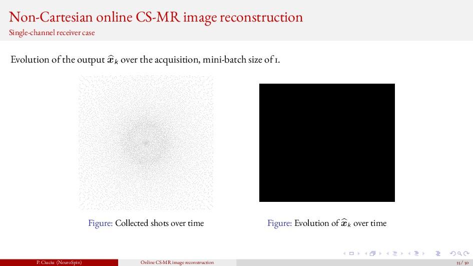 Non-Cartesian online CS-MR image reconstruction...