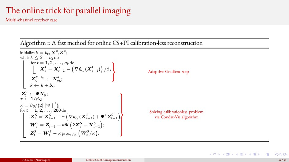 The online trick for parallel imaging Multi-cha...