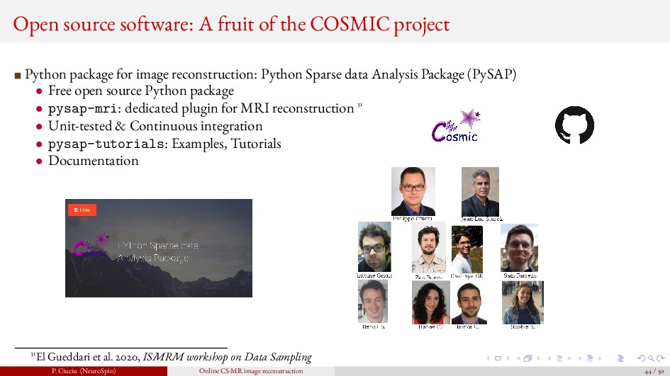 Open source software: A fruit of the COSMIC pro...
