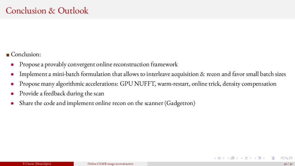 Conclusion & Outlook Conclusion: • Propose a pr...