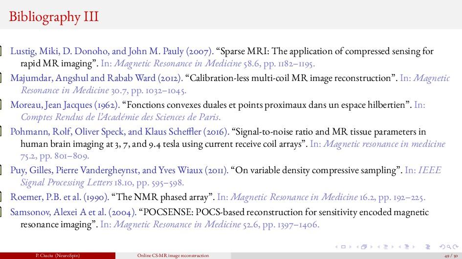 Bibliography III Lustig, Miki, D. Donoho, and J...